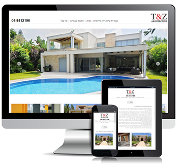 עיצוב ובניית אתר רספונסיבי בג'ומלה עבור משרד אדריכלים